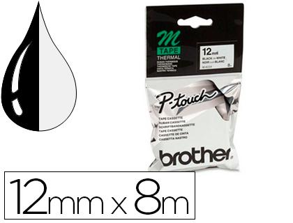 BROTHER CINTA ROTULADORA M K231B 8M 12 MM NEGRO/BLANCO MK231BZ