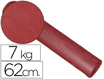 Papel kraft PAPEL FANTASIA KRAFT LISO KFC -BOBINA 62 CM -7 KG -COLOR BURDEOS