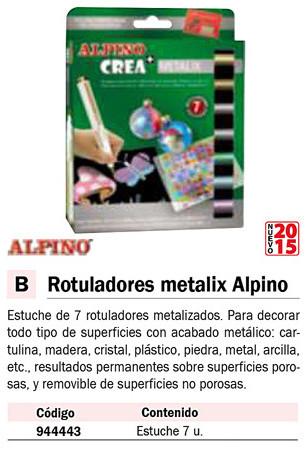 En estuche ALPINO CREA ESTUCHE 7 ROTULADORES METALIX AR000134