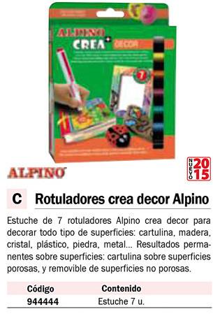 En estuche ALPINO CREA ESTUCHE 7 ROTULADORES DECOR AR000133