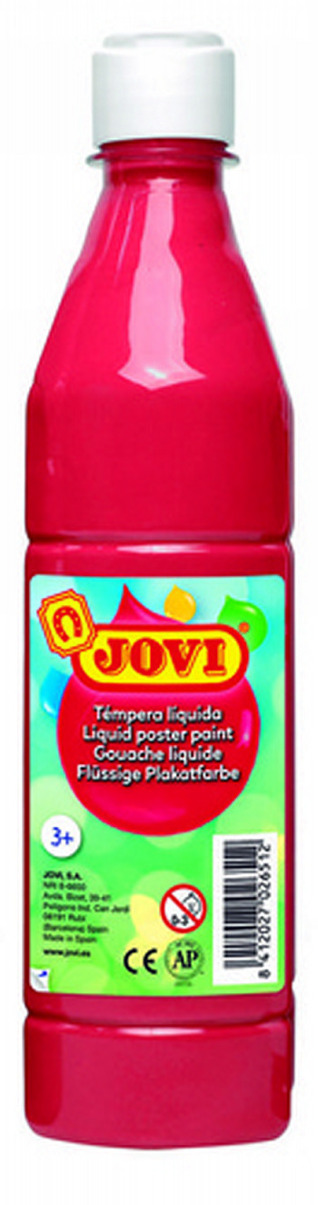 TEMPERA LIQUIDA JOVI ESCOLAR 500 ML BERMELLON 50607