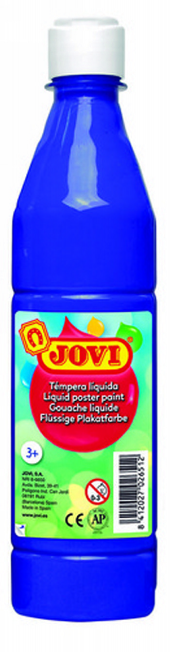 TEMPERA LIQUIDA JOVI ESCOLAR 500 ML AZUL ULTRAMAR