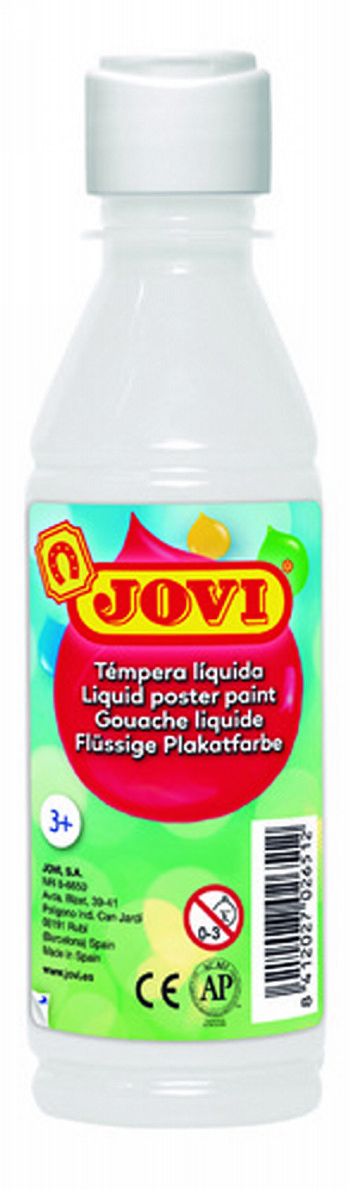 TEMPERA LIQUIDA JOVI ESCOLAR 250 ML BLANCO