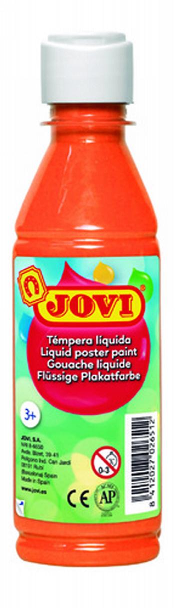 Tempera liquida jovi escolar 250 ml naranja