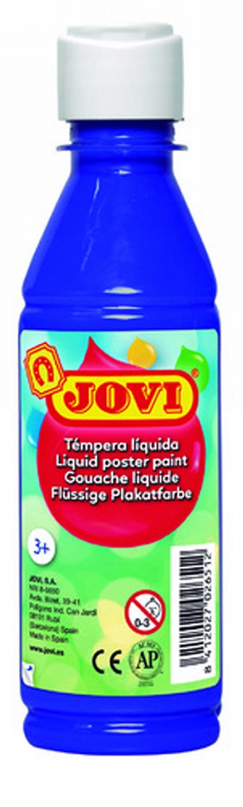 TEMPERA LIQUIDA JOVI ESCOLAR 250 ML AZUL ULTRAMAR