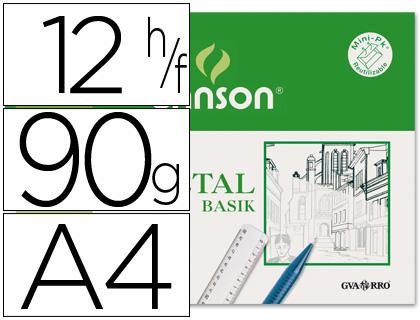 CANSON PAPEL VEGETAL 12 HOJAS A4 90 GR 200407621