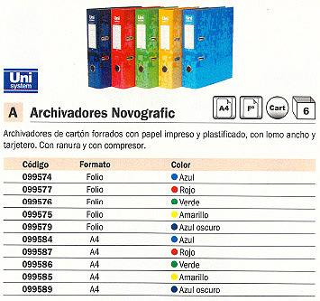 Comprar Archivadores color 099587(1/6) de Unisystem online.