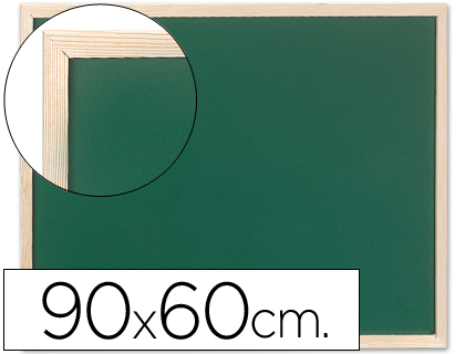 Pizarras verdes PIZARRA VERDE Q-CONNECT MARCO DE MADERA 90X60 SIN REPISA