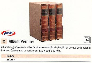 PARDO ALBUM PREMIER 330X295X40 MM 4 ANILLAS CON CAJETÍN 238000
