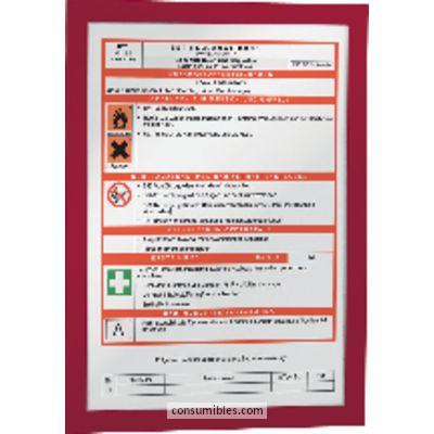 Paneles de informacion DURABLE MARCO AUTOADHESIVO MAGAFRAME 2UD A4 ROJO 4872-03