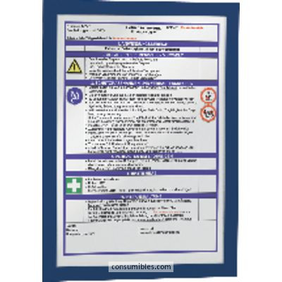 Paneles de informacion DURABLE MARCO AUTOADHESIVO MAGAFRAME PACK 2 UD A4 AZUL 4872-07