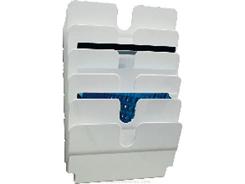 Expositores DURABLE EXPOSITOR FLEXIPLUS A4 HORIZONTAL BLANCO 1700014011