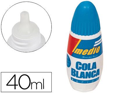 Cola blanca ENVASE DE 12 UNIDADES IMEDIO PEGAMENTO IMEDIO BANDA AZUL COLA BLANCA 40 ML -UNIDAD