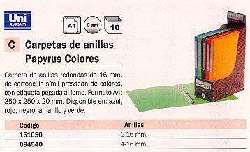 Comprar Carpetas anillas color 151050 de Papyrus online.