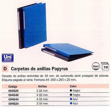 Comprar Carpetas anillas color 094549 de Papyrus online.