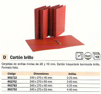Comprar Carpetas anillas carton 091782(1/12) de Unisystem online.