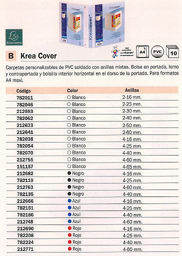 ENVASE DE 10 UNIDADES EXACOMPTA CARPETA ANILLAS KREA COVER A4 4-16 MM BLANCO 51840E
