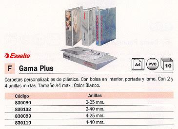 ENVASE DE 10 UNIDADES ESSELTE CARPETA ANILLAS A4+ 4-25 MM BLANCO BL1440