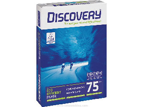 ENVASE DE 5 UNIDADES DISCOVERY PAPEL MULTIFUNCION DISCOVERY 500H 75 G. A4 0567SW