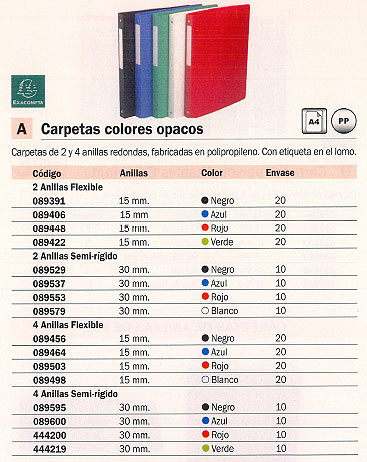 EXACOMPTA CARPETA ANILLAS A4 2-15 MM AZUL POLOPROPILENO FLEXIBLE 54192E