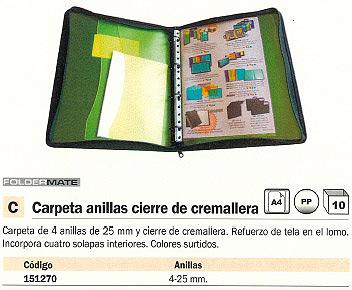 FOLDERMATE CARPETA ANILLAS A4 4-25 MM COLORES SURTIDOS 5034SURT