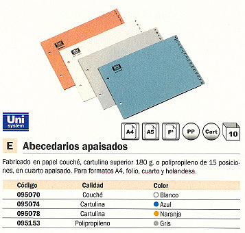 Comprar Abecedarios 095078(1/10) de Unisystem online.