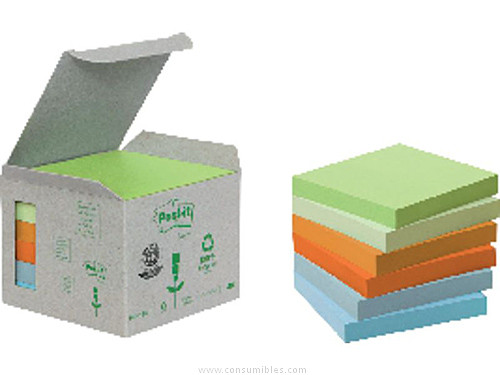POST IT TORRE NOTAS ADHESIVAS PACK 6 BLOCS COLORES PASTEL SURTIDOS 76X76 MM FT510118712