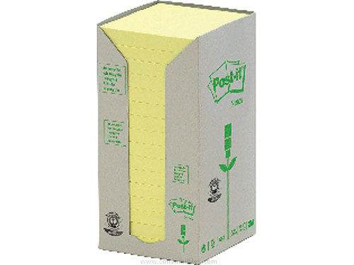 POST IT TORRE NOTAS ADHESIVAS 6 BLOCS 100H AMARILLO 76X76 MM RECICLADO FT510118696