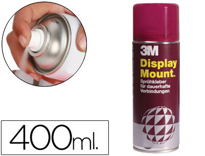 Adhesivos PEGAMENTO SCOTCH SPRAY DISPLAY MOUNT 400 ML ADHESIVO PERMANENTE