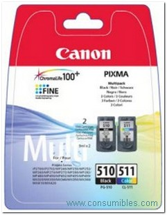 CARTUCHO DE TINTA NEGRO- COLOR PACK 2 CANON PG-510-CL-511
