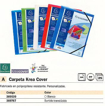 EXACOMPTA CARPETA GOMAS KREA COVER 3 SOLAPAS A4 COLORES SURTIDOS TRANSLUCIDOS PERSONALIZABLE 55189E