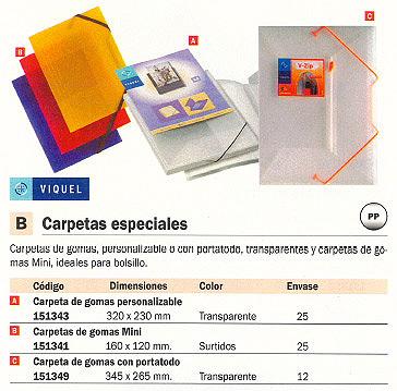 VIQUEL CARPETA GOMAS 160X120 COLORES SURTIDOS MINI 01708308