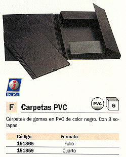 IBERPLAS CARPETA GOMAS 3 SOLAPAS FORMATO 4º NEGRO PVC 341CS00