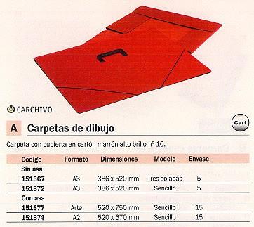 CARCHIDEA CARPETA DIBUJO 460X660 A2 MARRÓN MA3665