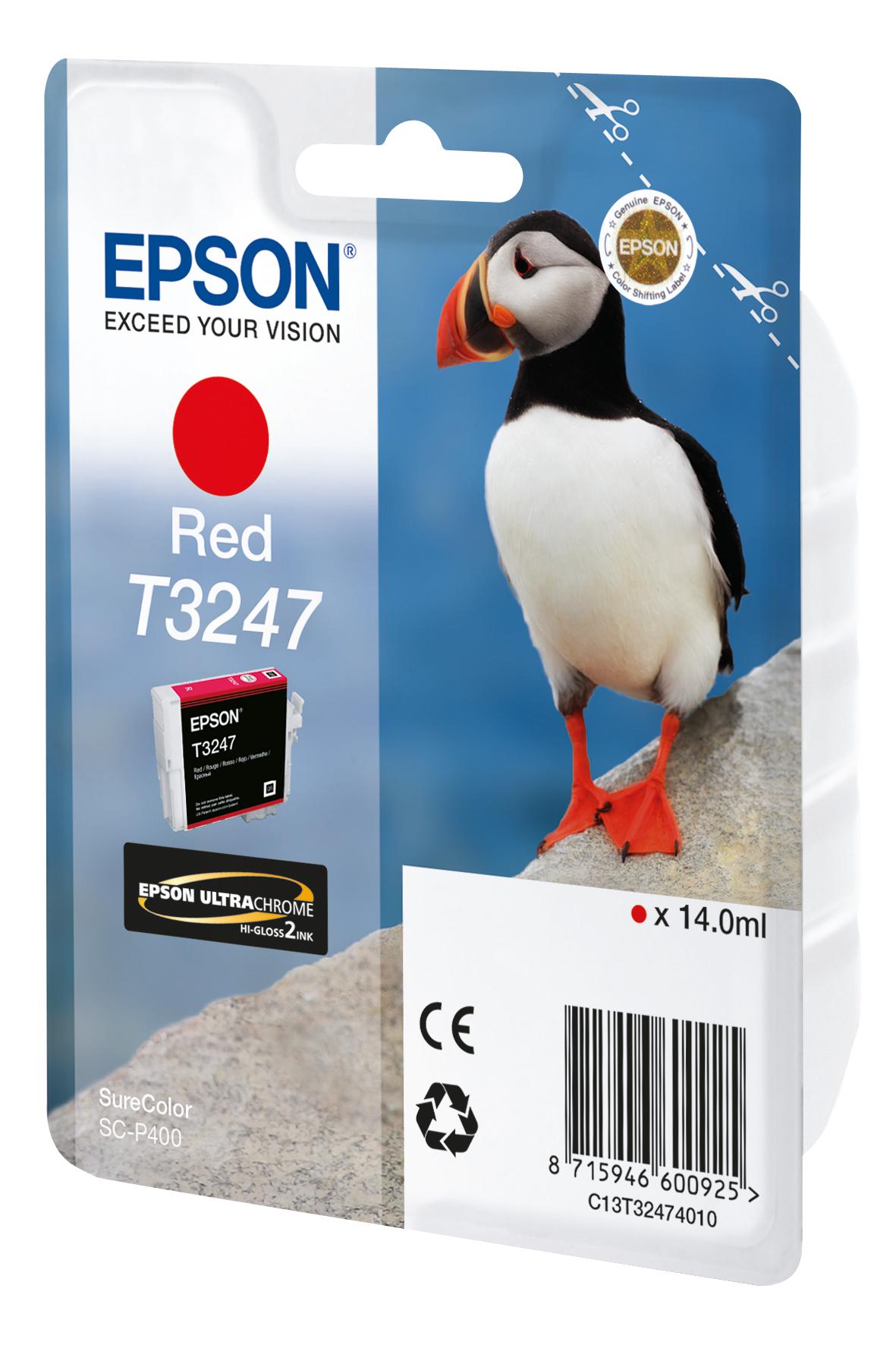 Cartucho de tinta Rojo C13T32474010 T3247 980 páginas 14ml