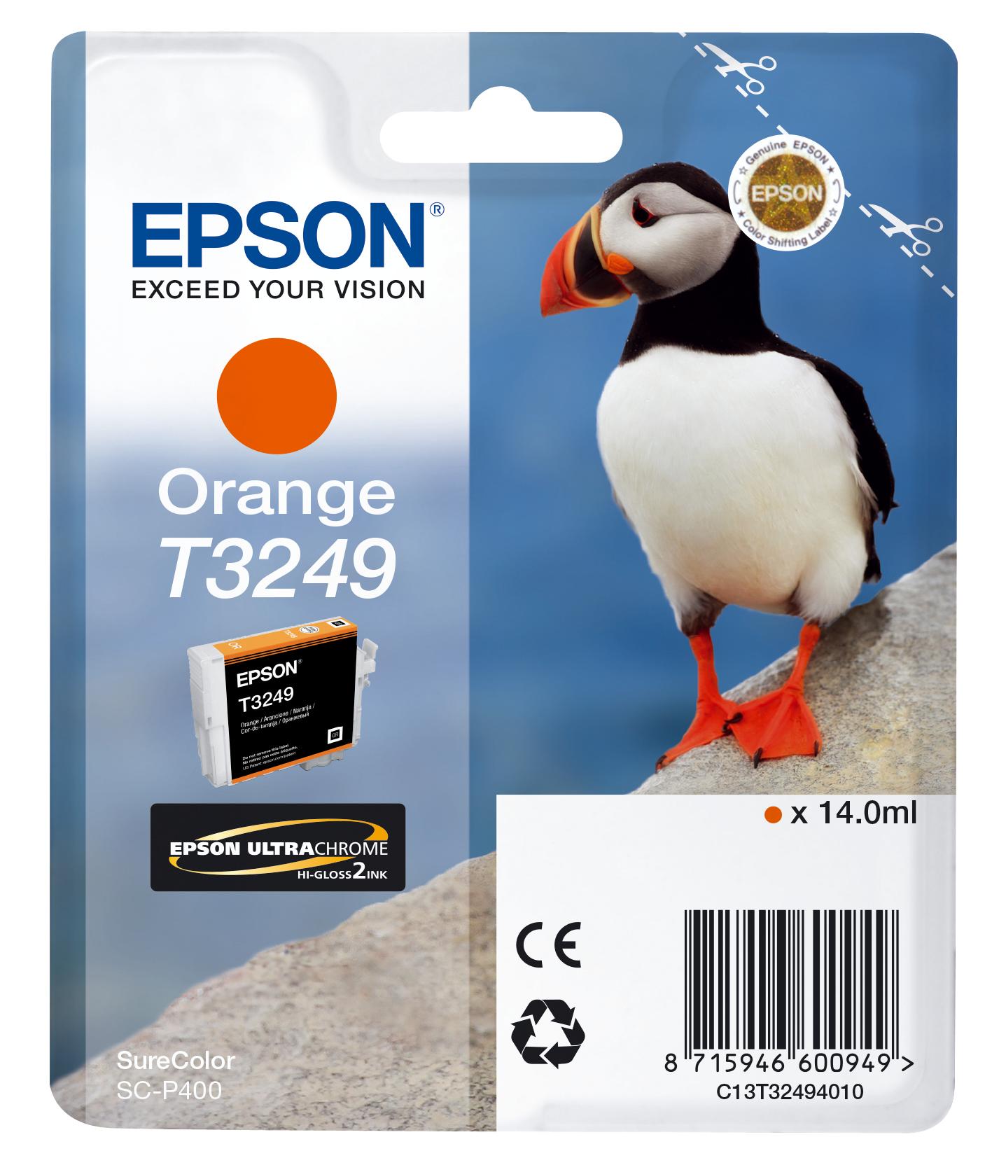 Cartucho de tinta Naranja C13T32494010 T3249 980 páginas 14ml