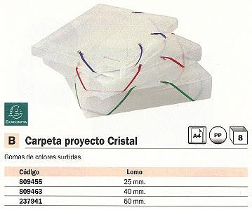 EXACOMPTA CARPETAS PROYECTO LOMO 40 MM CRISTAL 5972E