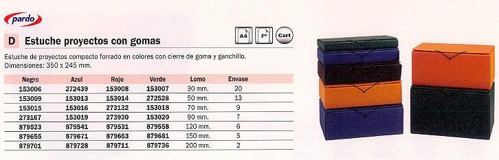 ENVASE DE 2 UNIDADES PARDO CARPETAS PROYECTOS A4 LOMO 200 MM AZUL 972103