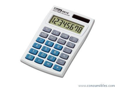 Calculadoras de bolsillo IBICO CALCULADORA 081X 8 DIGITOS SOLAR -PILAS IB410000