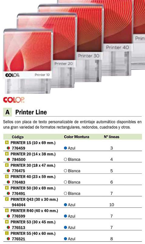 Sellos y Tampones COLOP SELLO AUTOENTINTABLE Q43 30X30MM AZUL SGQ.43.AA