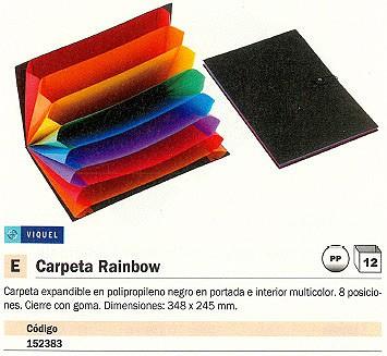 ENVASE DE 12 UNIDADES VIQUEL CARPETA CLASIFICADORA RAINBOW CLASS 8 POSICIONES A4 POLIPROPILENO 11008705