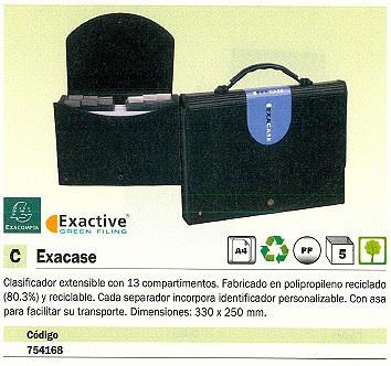 ENVASE DE 5 UNIDADES EXACOMPTA CARPETA CLASIFICADORA EXACASE 13 COMPARTIMENTOS A4 EXTENSIBLE NEGRO 55934E