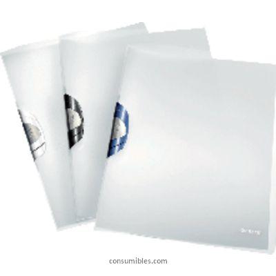 Dossiers con clip ENVASE DE 6 UNIDADES LEITZ DOSSIERS CLIP COLORCLIP PROFESSIONAL CAPACIDAD 40 HOJAS A4 AZUL POLIPROPILENO 41660001