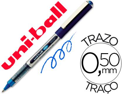 ENVASE DE 12 UNIDADES UNI-BALL ROLLER UB-150 MICRO EYE AZUL 0.5 MM -UNIDAD