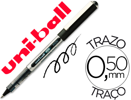 ENVASE DE 12 UNIDADES UNI-BALL ROLLER UB-150 MICRO EYE NEGRO 0,5 MM -UNIDAD
