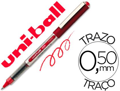 ENVASE DE 12 UNIDADES UNI-BALL ROLLER UB-150 MICRO EYE ROJO 0,5 MM -UNIDAD