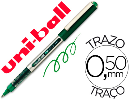 ENVASE DE 12 UNIDADES UNI-BALL ROLLER UB-150 MICRO EYE VERDE 0,5 MM -UNIDAD