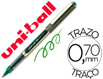 ENVASE DE 12 UNIDADES UNI-BALL ROLLER UB-157 VERDE 0,7 MM UNIDAD
