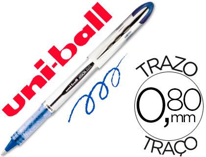 ENVASE DE 12 UNIDADES UNI-BALL ROLLER UB-200 VISION AZUL 0,8 MM -UNIDAD