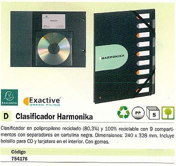 EXACOMPTA CARPETA CLASIFICADORA HARMONIKA 9 COMPARTIMENTOS A4 POLIPROPILENO 55334E